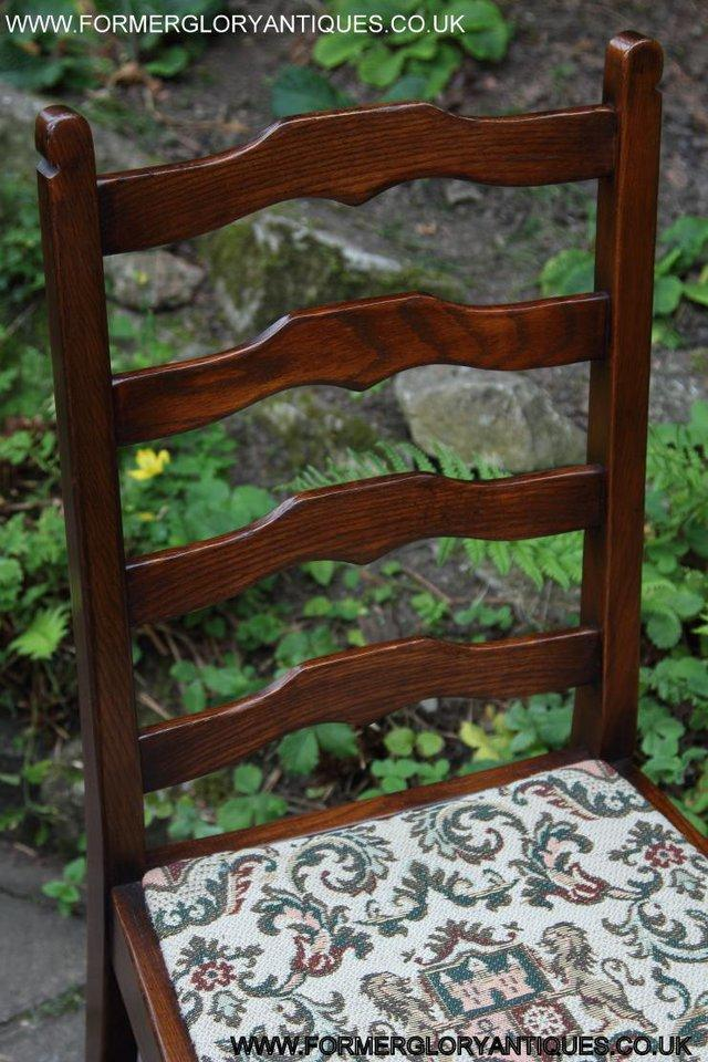 Image 20 of SIX OAK LADDER BACK OLD CHARM STYLE DINING CHAIRS ARMCHAIRS