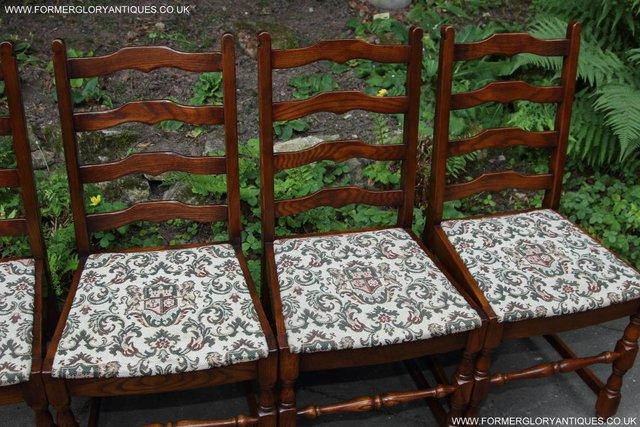 Image 22 of SIX OAK LADDER BACK OLD CHARM STYLE DINING CHAIRS ARMCHAIRS