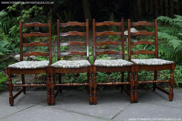 Image 24 of SIX OAK LADDER BACK OLD CHARM STYLE DINING CHAIRS ARMCHAIRS