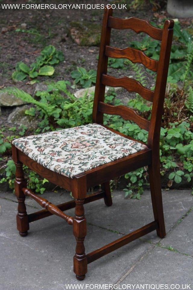 Image 25 of SIX OAK LADDER BACK OLD CHARM STYLE DINING CHAIRS ARMCHAIRS