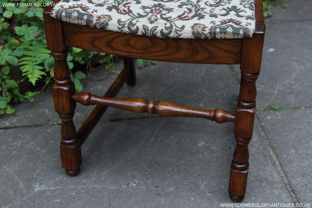 Image 34 of SIX OAK LADDER BACK OLD CHARM STYLE DINING CHAIRS ARMCHAIRS