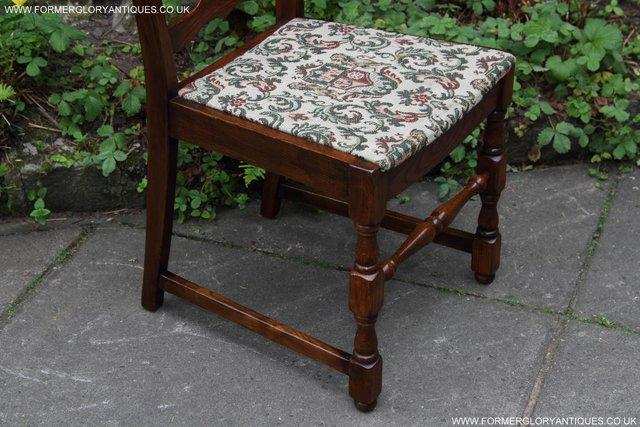 Image 35 of SIX OAK LADDER BACK OLD CHARM STYLE DINING CHAIRS ARMCHAIRS