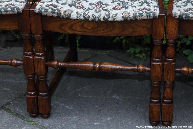 Image 36 of SIX OAK LADDER BACK OLD CHARM STYLE DINING CHAIRS ARMCHAIRS