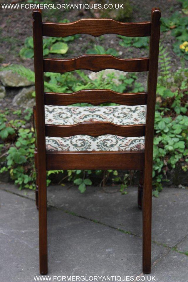 Image 38 of SIX OAK LADDER BACK OLD CHARM STYLE DINING CHAIRS ARMCHAIRS