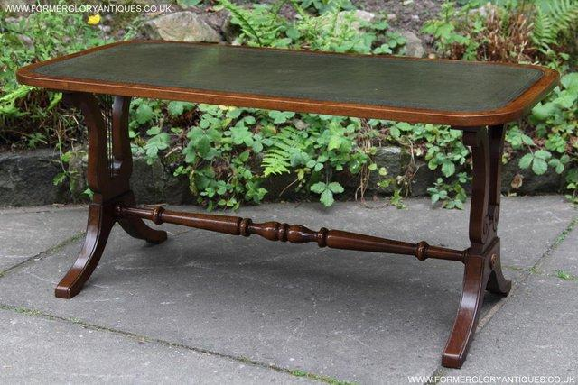 Image 2 of A BEVAN FUNNELL LEATHER OCCASIONAL COFFEE LAMP SOFA TABLE