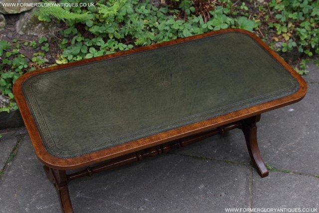 Image 3 of A BEVAN FUNNELL LEATHER OCCASIONAL COFFEE LAMP SOFA TABLE