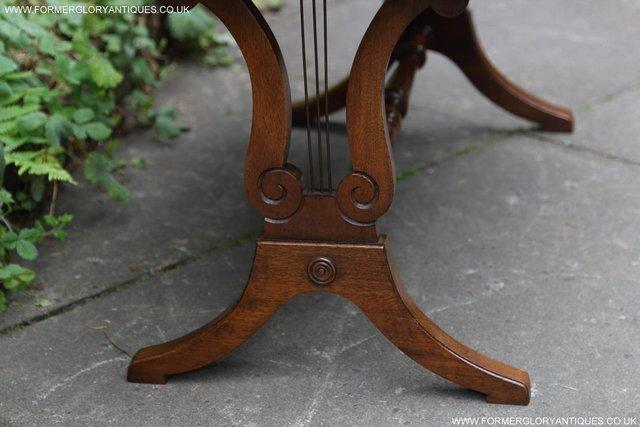 Image 5 of A BEVAN FUNNELL LEATHER OCCASIONAL COFFEE LAMP SOFA TABLE