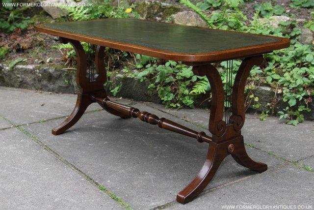 Image 8 of A BEVAN FUNNELL LEATHER OCCASIONAL COFFEE LAMP SOFA TABLE