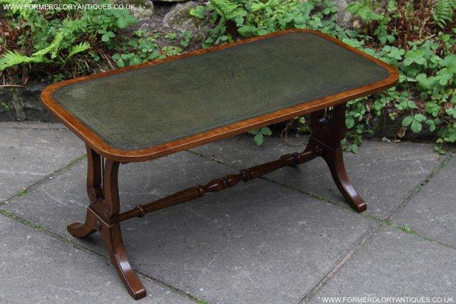 Image 9 of A BEVAN FUNNELL LEATHER OCCASIONAL COFFEE LAMP SOFA TABLE