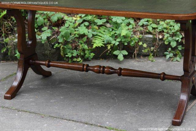 Image 14 of A BEVAN FUNNELL LEATHER OCCASIONAL COFFEE LAMP SOFA TABLE