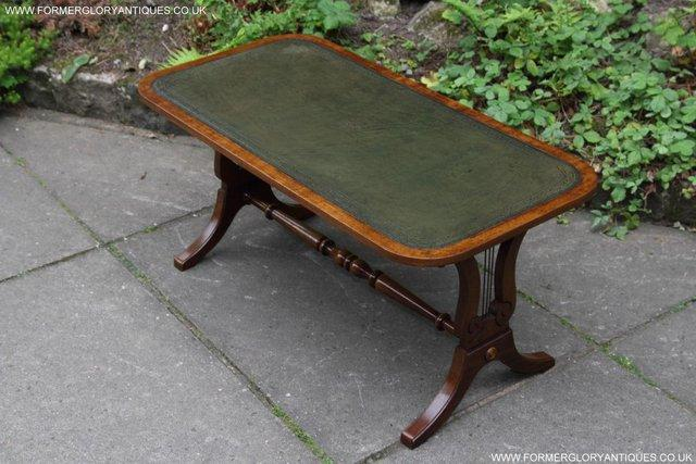Image 15 of A BEVAN FUNNELL LEATHER OCCASIONAL COFFEE LAMP SOFA TABLE