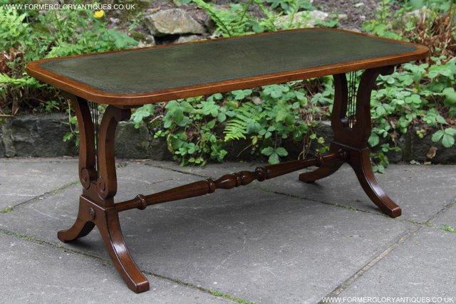 Image 18 of A BEVAN FUNNELL LEATHER OCCASIONAL COFFEE LAMP SOFA TABLE