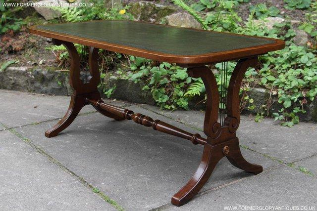 Image 19 of A BEVAN FUNNELL LEATHER OCCASIONAL COFFEE LAMP SOFA TABLE