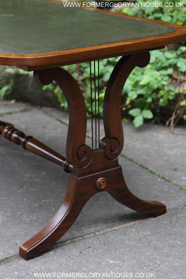 Image 20 of A BEVAN FUNNELL LEATHER OCCASIONAL COFFEE LAMP SOFA TABLE