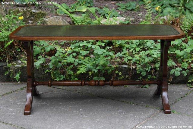 Image 24 of A BEVAN FUNNELL LEATHER OCCASIONAL COFFEE LAMP SOFA TABLE
