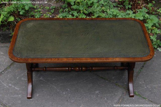 Image 34 of A BEVAN FUNNELL LEATHER OCCASIONAL COFFEE LAMP SOFA TABLE