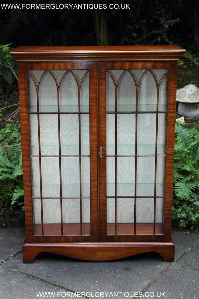Image 2 of BEVAN FUNNELL MAHOGANY DISPLAY CHINA CABINET BOOKCASE