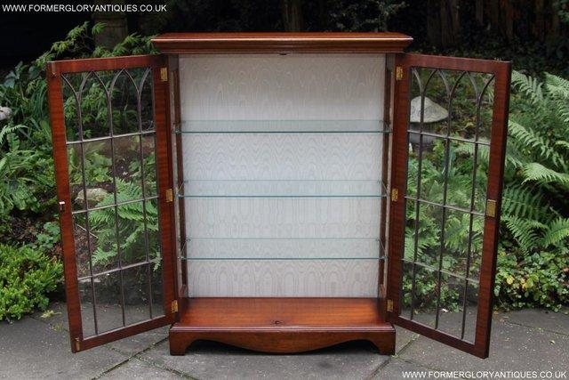 Image 3 of BEVAN FUNNELL MAHOGANY DISPLAY CHINA CABINET BOOKCASE