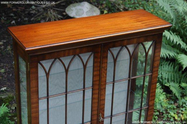 Image 7 of BEVAN FUNNELL MAHOGANY DISPLAY CHINA CABINET BOOKCASE