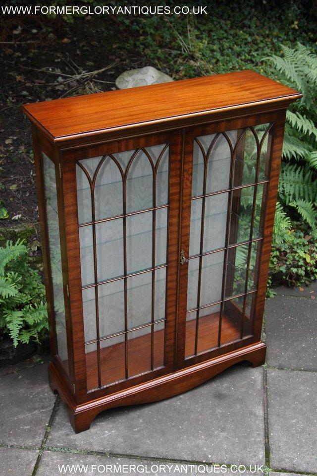Image 8 of BEVAN FUNNELL MAHOGANY DISPLAY CHINA CABINET BOOKCASE