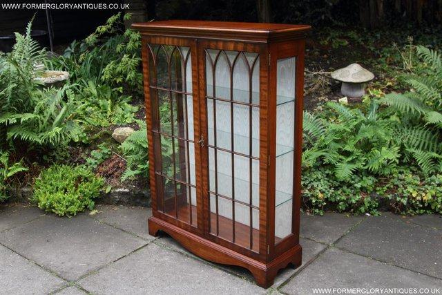 Image 9 of BEVAN FUNNELL MAHOGANY DISPLAY CHINA CABINET BOOKCASE