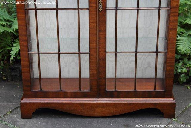 Image 10 of BEVAN FUNNELL MAHOGANY DISPLAY CHINA CABINET BOOKCASE
