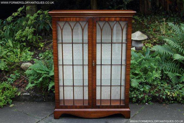 Image 13 of BEVAN FUNNELL MAHOGANY DISPLAY CHINA CABINET BOOKCASE