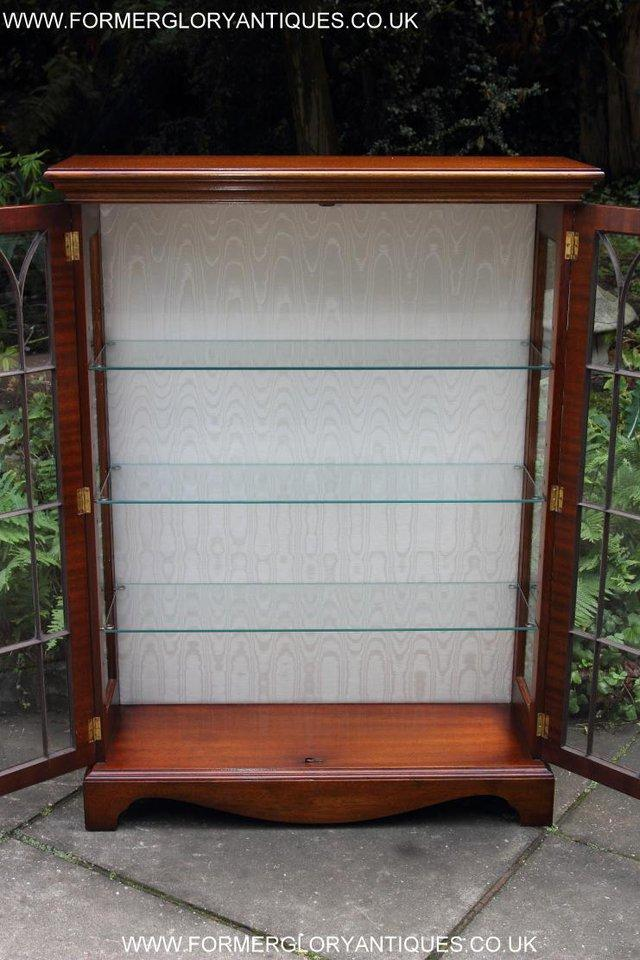 Image 14 of BEVAN FUNNELL MAHOGANY DISPLAY CHINA CABINET BOOKCASE