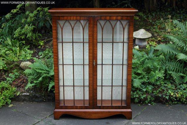 Image 16 of BEVAN FUNNELL MAHOGANY DISPLAY CHINA CABINET BOOKCASE
