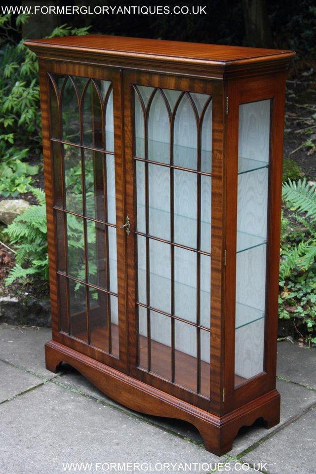 Image 17 of BEVAN FUNNELL MAHOGANY DISPLAY CHINA CABINET BOOKCASE