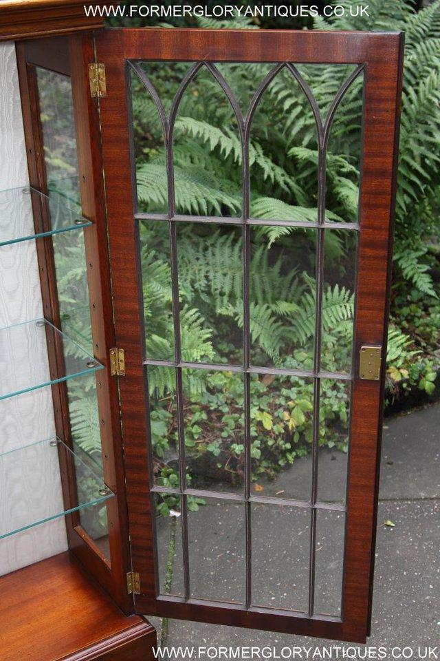 Image 20 of BEVAN FUNNELL MAHOGANY DISPLAY CHINA CABINET BOOKCASE