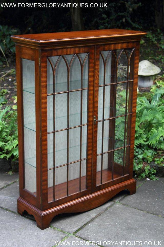 Image 31 of BEVAN FUNNELL MAHOGANY DISPLAY CHINA CABINET BOOKCASE