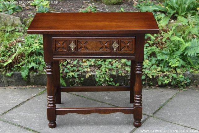Preview of the first image of JAYCEE OLD CHARM STYLE OAK HALL PHONE LAMP SIDE WINE TABLE.
