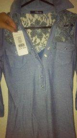 Brand new with tags jane norman demin lace shirt