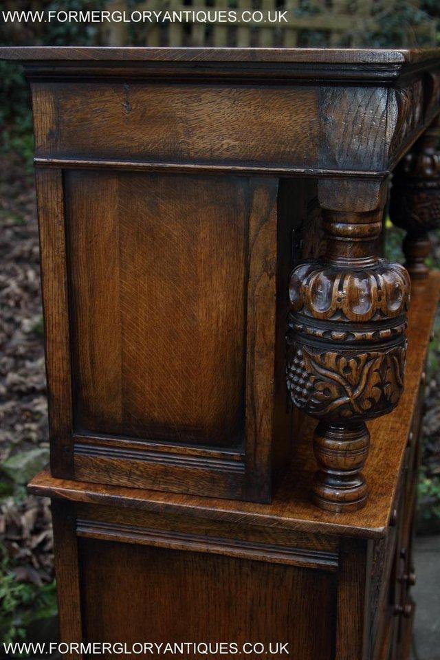 Image 11 of TITCHMARSH GOODWIN OAK SIDEBOARD DRESSER CABINET CUPBOARD