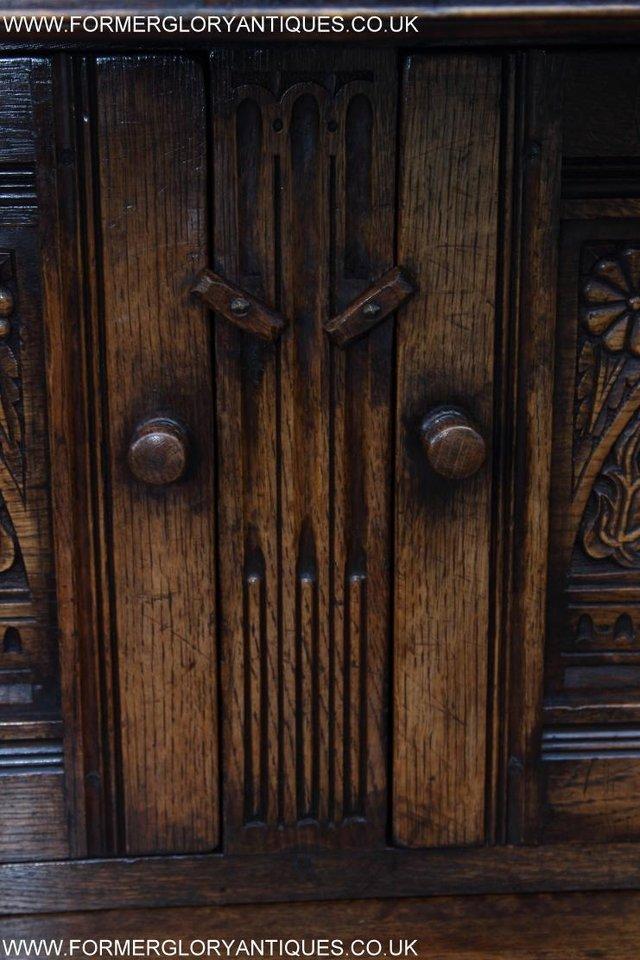 Image 29 of TITCHMARSH GOODWIN OAK SIDEBOARD DRESSER CABINET CUPBOARD