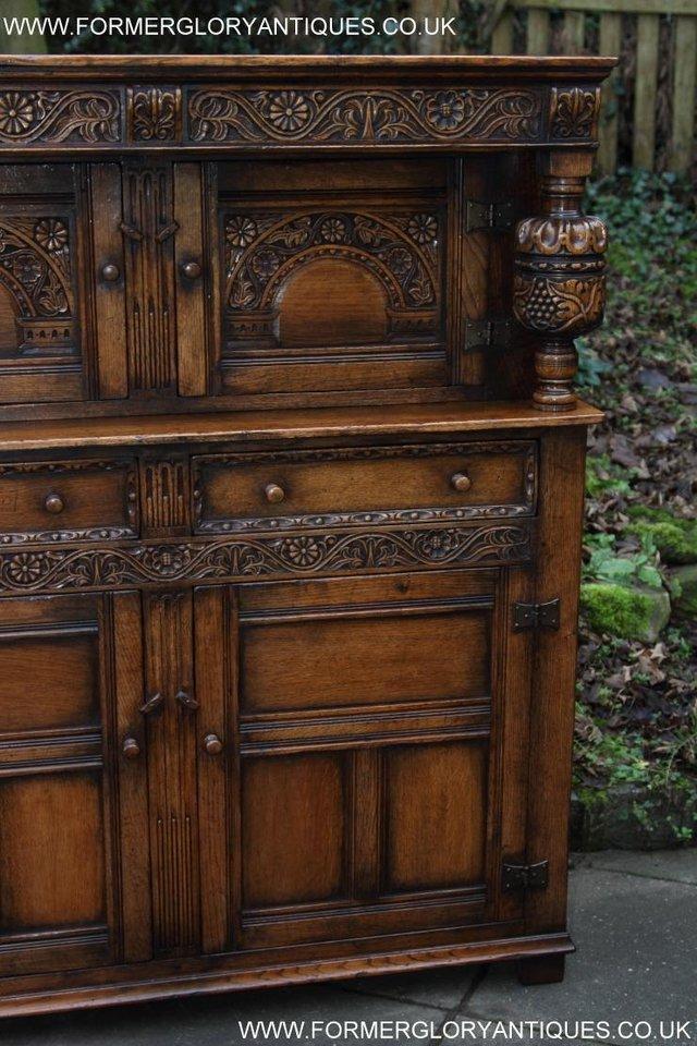 Image 31 of TITCHMARSH GOODWIN OAK SIDEBOARD DRESSER CABINET CUPBOARD