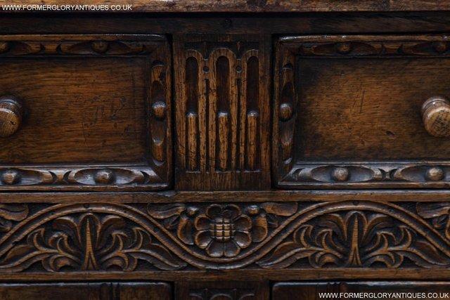 Image 33 of TITCHMARSH GOODWIN OAK SIDEBOARD DRESSER CABINET CUPBOARD