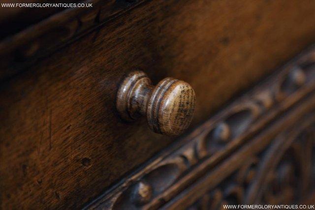 Image 34 of TITCHMARSH GOODWIN OAK SIDEBOARD DRESSER CABINET CUPBOARD