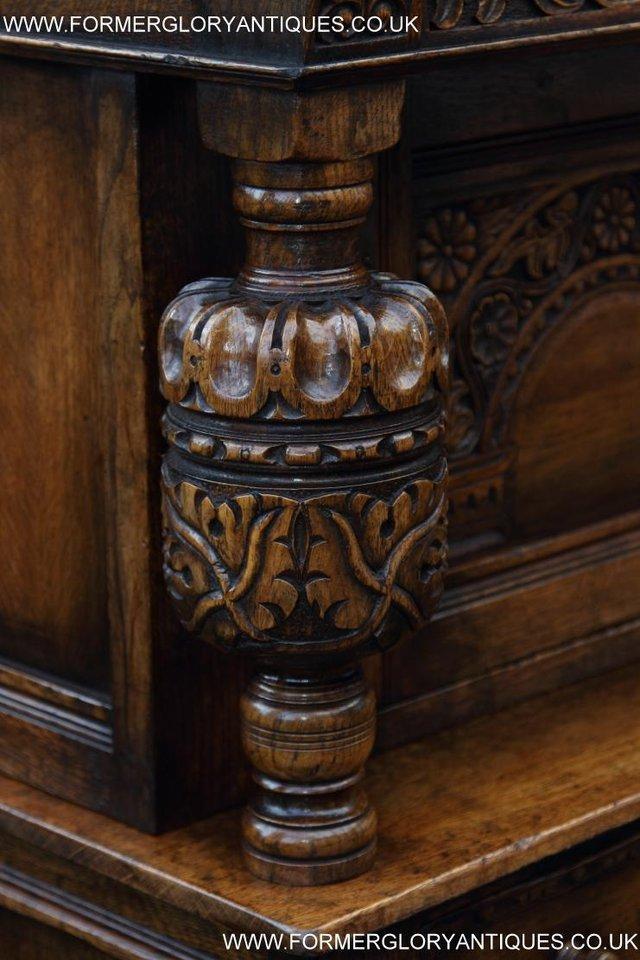 Image 45 of TITCHMARSH GOODWIN OAK SIDEBOARD DRESSER CABINET CUPBOARD