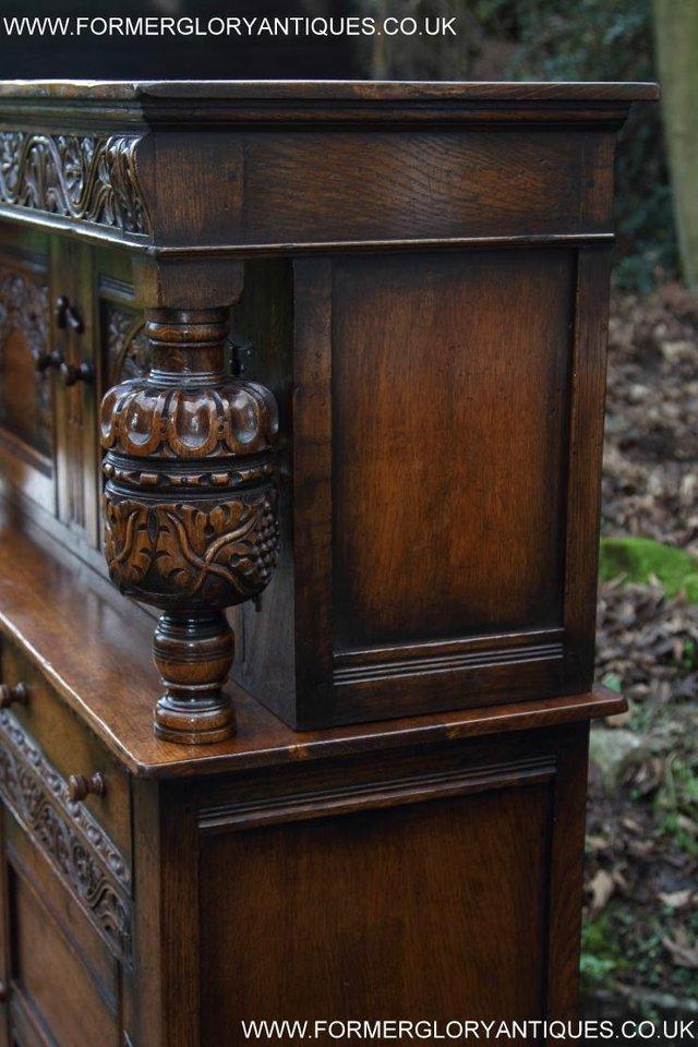 Image 49 of TITCHMARSH GOODWIN OAK SIDEBOARD DRESSER CABINET CUPBOARD