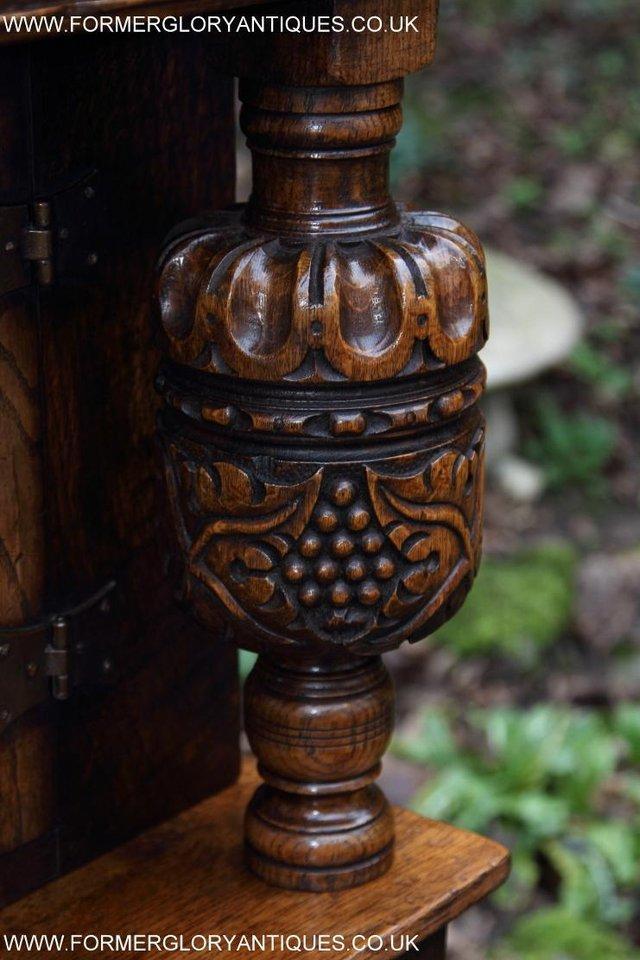Image 55 of TITCHMARSH GOODWIN OAK SIDEBOARD DRESSER CABINET CUPBOARD