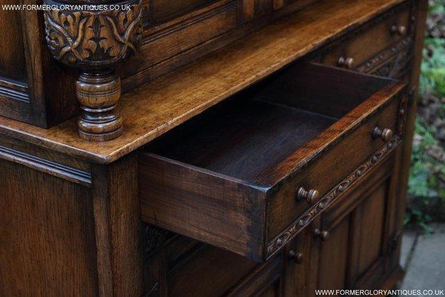 Image 60 of TITCHMARSH GOODWIN OAK SIDEBOARD DRESSER CABINET CUPBOARD