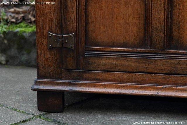 Image 62 of TITCHMARSH GOODWIN OAK SIDEBOARD DRESSER CABINET CUPBOARD