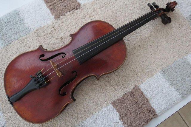 3 4 size violin ascribed to mathias neuner mittenwald 1824 for sale in polegate province. Black Bedroom Furniture Sets. Home Design Ideas