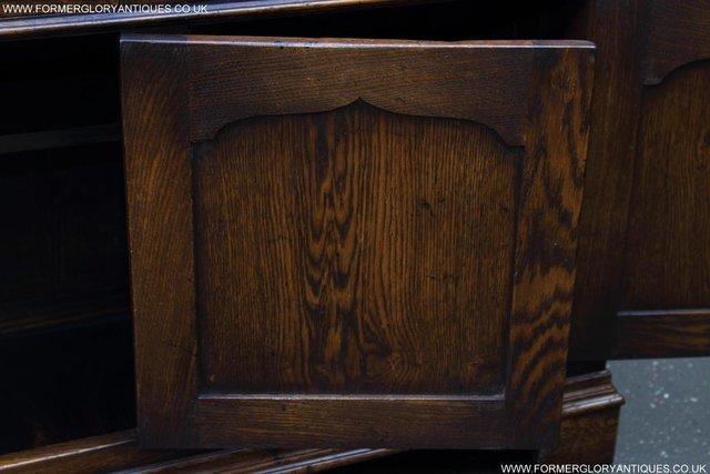 Image 6 of TITCHMARSH GOODWIN STYLE OAK WELSH DRESSER BASE SIDEBOARD