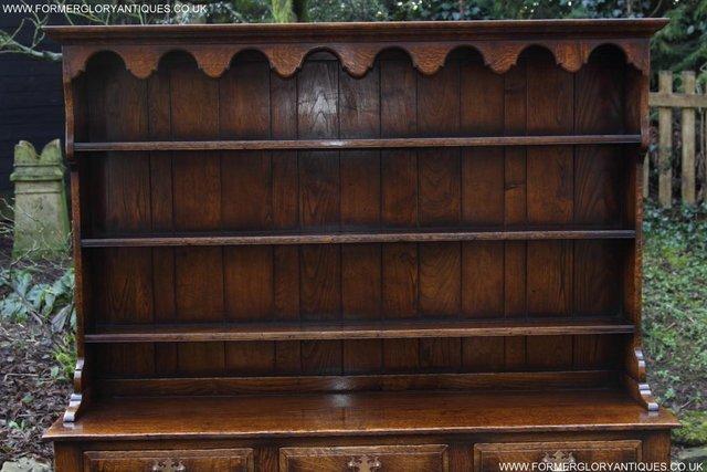 Image 14 of TITCHMARSH GOODWIN STYLE OAK WELSH DRESSER BASE SIDEBOARD