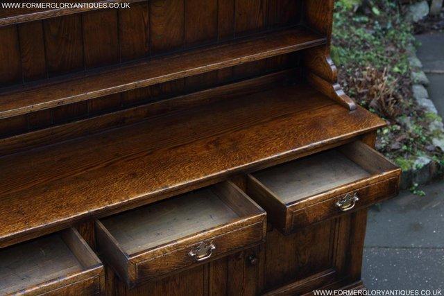 Image 31 of TITCHMARSH GOODWIN STYLE OAK WELSH DRESSER BASE SIDEBOARD