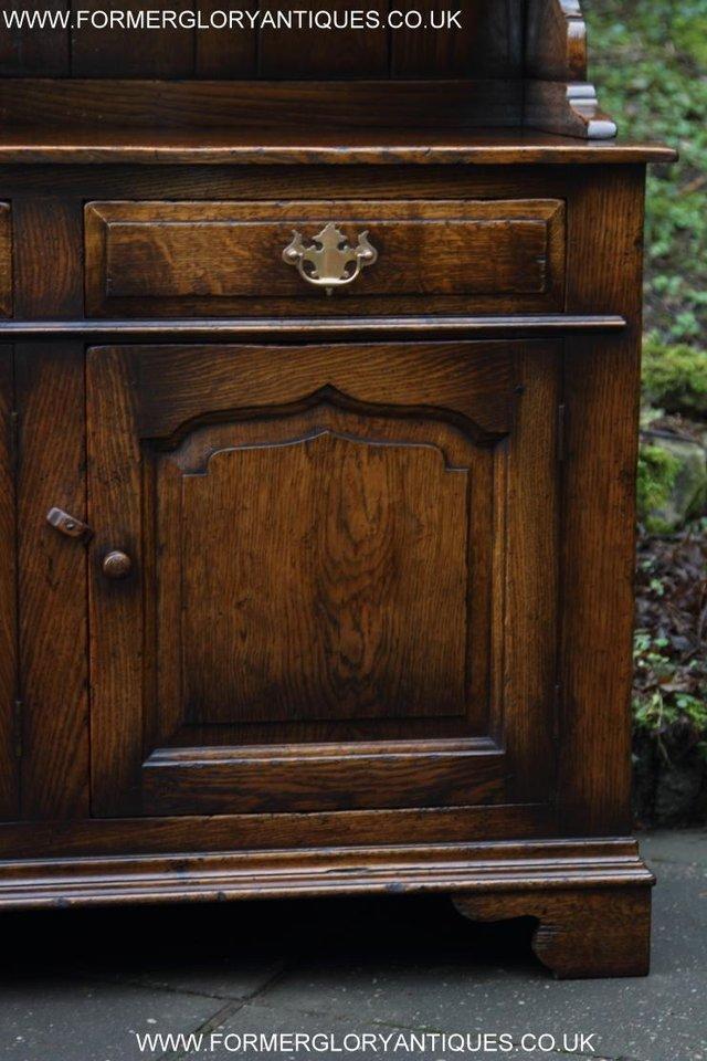 Image 37 of TITCHMARSH GOODWIN STYLE OAK WELSH DRESSER BASE SIDEBOARD