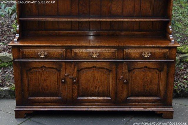 Image 38 of TITCHMARSH GOODWIN STYLE OAK WELSH DRESSER BASE SIDEBOARD